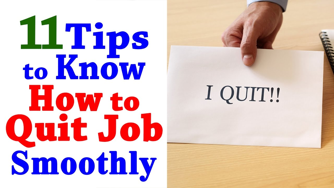How To Quit A Job - 11 Tips To Quit Your Job - Professional Career ...