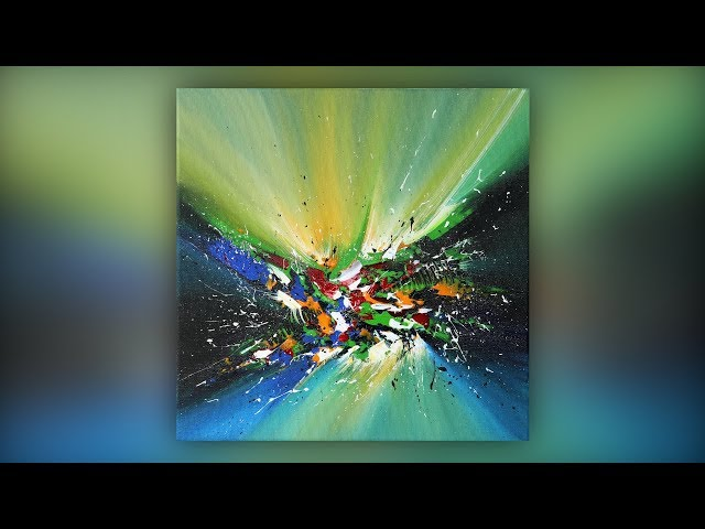 Easy Abstract Painting Techniques / Acrylics / Palette Knife / Multicolored / Demo #026