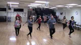 Step Back in Time Beginner Line Dance Demo by Vogue Dance Club Dancers