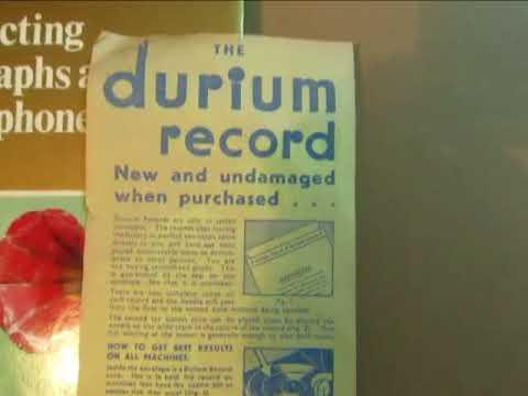 Durium Dance Band  - Foolish Over You - & Rare Durium Leaflet - 78 rpm