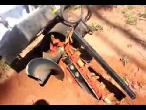 Skid Loader Chain Trencher Problem