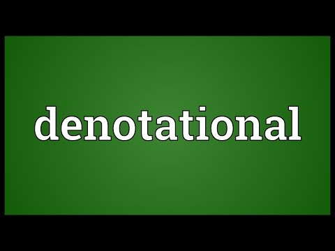 Denotational Meaning