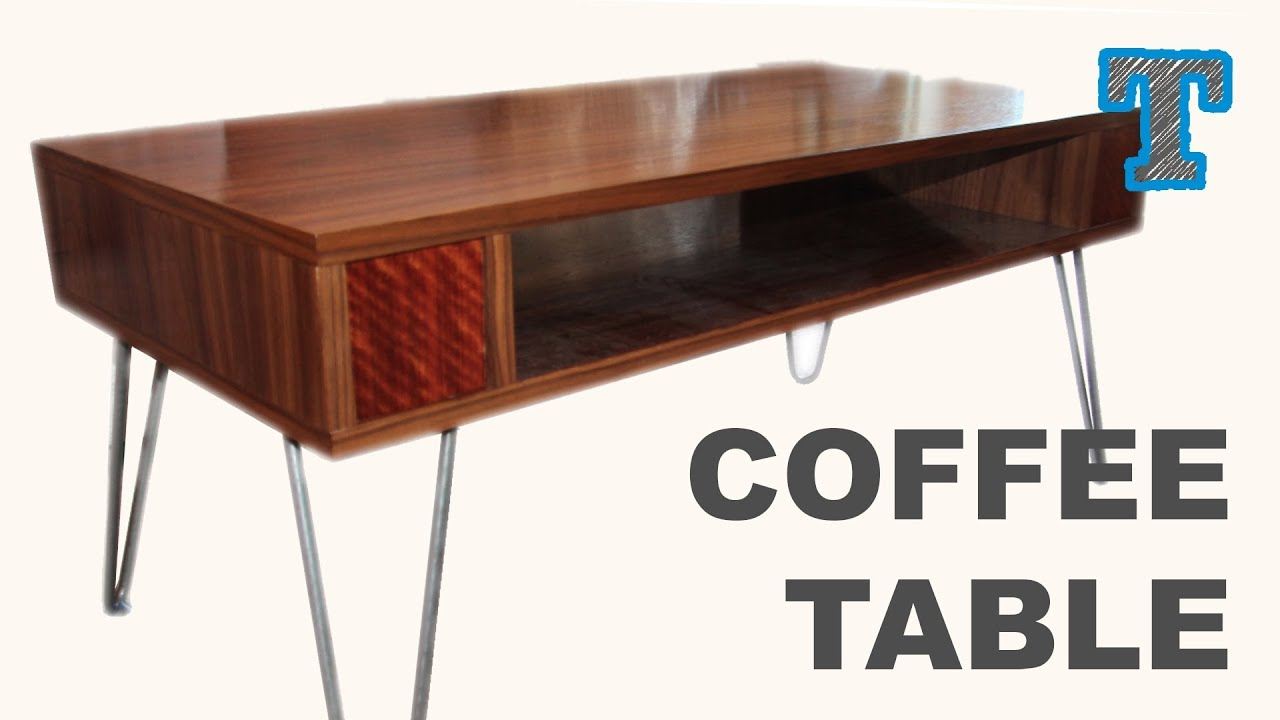 Build a Retro Lift Top Coffee Table YouTube