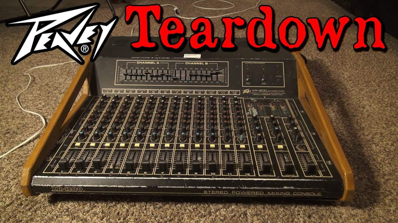Peavey Xr 1200 Stereo Powered Mixing Console Teardown Part 1 Youtube 115h Monitor Wiring Diagram