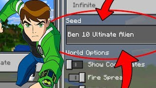"Minecraft ""Ben 10 Ultimate Alien"" World (Finding Ben 10 on this Minecraft Seed)"