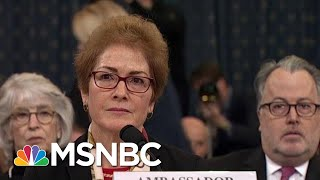 'Very Intimidating': Yovanovitch Responds To Trump's Mid-Testimony Twitter Attacks | MSNBC