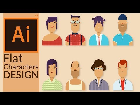 Simple Character Design with Rectangle & Corner Radius