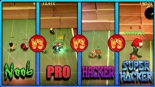 NOOB vs PRO vs HACKER vs SUPER HACKER | BombSquad Futbol