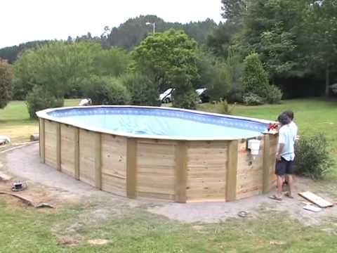 Montaje piscina de madera gre youtube for Piscina fuori terra 400x200x100