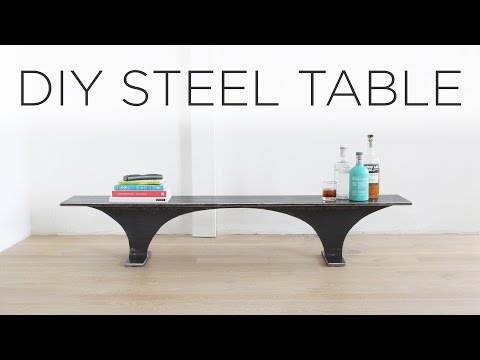 DIY Steel Table | Made from an I-Beam
