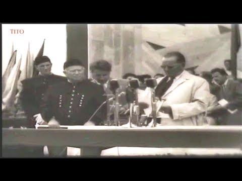 Josip Broz Tito i Nikita Khrushchev, Velenje, Slovenija 1963