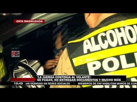 'La juerga continúa al volante': Operativo de alcoholemia en el Sur