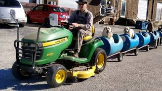 The Man Who Built A Special Train To Take His Rescued Dogs Around Town