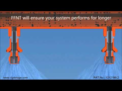 Rig Deluge FFNT - Free Flow Nozzle Technology Animation Movie Fire Sprinkler Systems .wmv