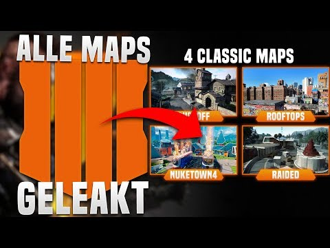 ALLE MAPS aus BLACK OPS 4 geleakt! - Mehrere Remakes!  - BO4 Multiplayer Map Liste