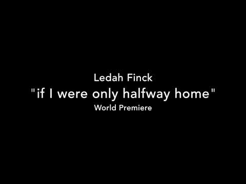 if I were only halfway home - Ledah Finck