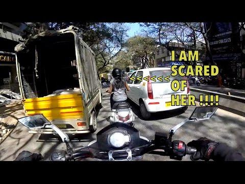 Bangalore reactions 26: Lady riders vs Bigbang Biker | Scared of her !!