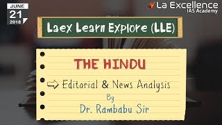 Daily Current Affairs 21 JUNE  2018 The Hindu by La Excellence - CivilsPrep