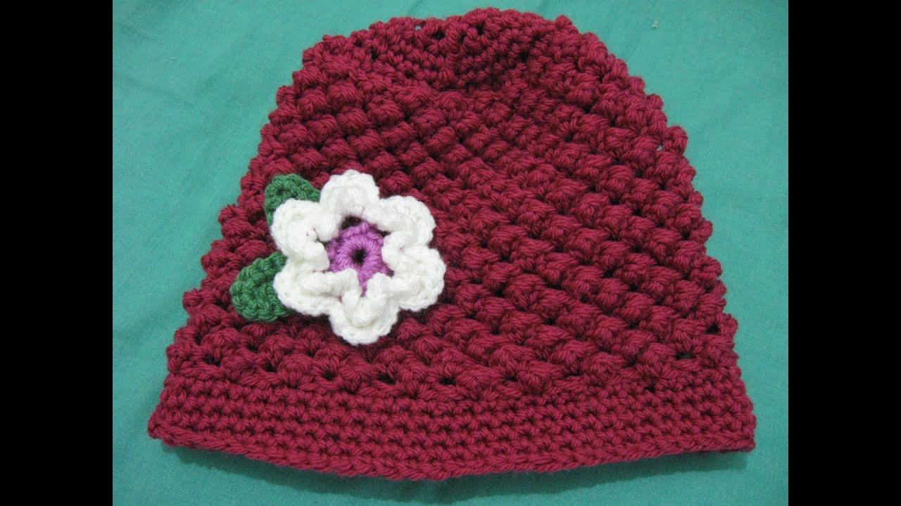 Raspberry Stitch Beanie Crochet Tutorial Youtube