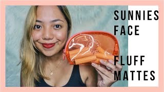 SUNNIES FACE FLUFFMATTES ON MORENA SKIN? | SWATCH + TRY-ON + REVIEW | Kristel Tariman