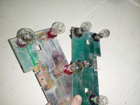 Переделка задних фонарей Ваз 2104. Установка патронов Газ 2410.