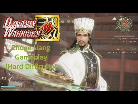 Dynasty Warriors 9 - Zhuge Liang Gameplay (Hard Difficulty)