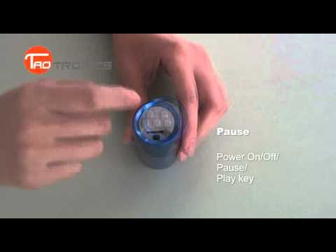 TaoTronics KEYSTONE Aluminum Alloy Portable Sports Speaker / MP3 Player with FM Radio