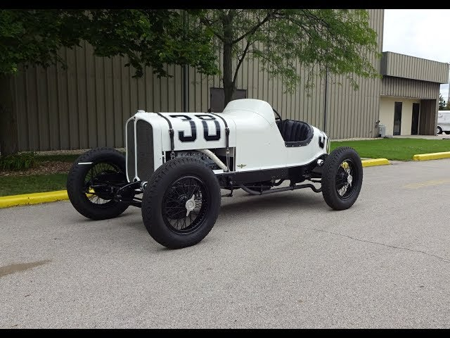 1930 Oakland Indianapolis Indy 500 Racecar # 38 & V8 Engine Sound on My Car Story with Lou Costabile
