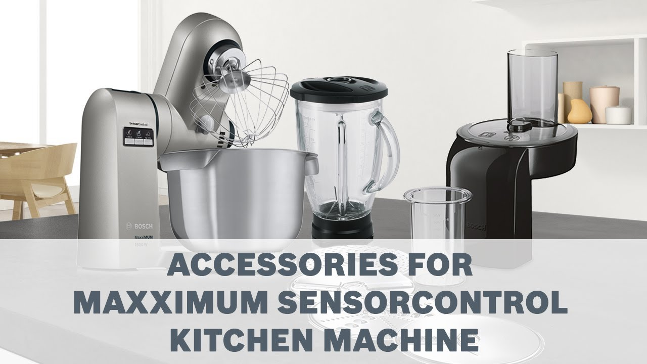 maxximum sensorcontrol kitchen machines accessories user guide rh youtube com Bosch Universal Plus Kitchen Machine Red Bosch Mixer