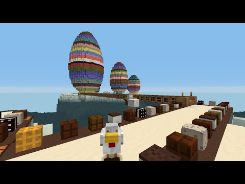 Minecraft LIVE @ Sim Architect World! Easter Special! Building Easter Bunny Statue
