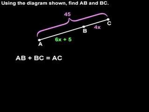 Segment Addition Postulate - MathHelp com - Geometry Help