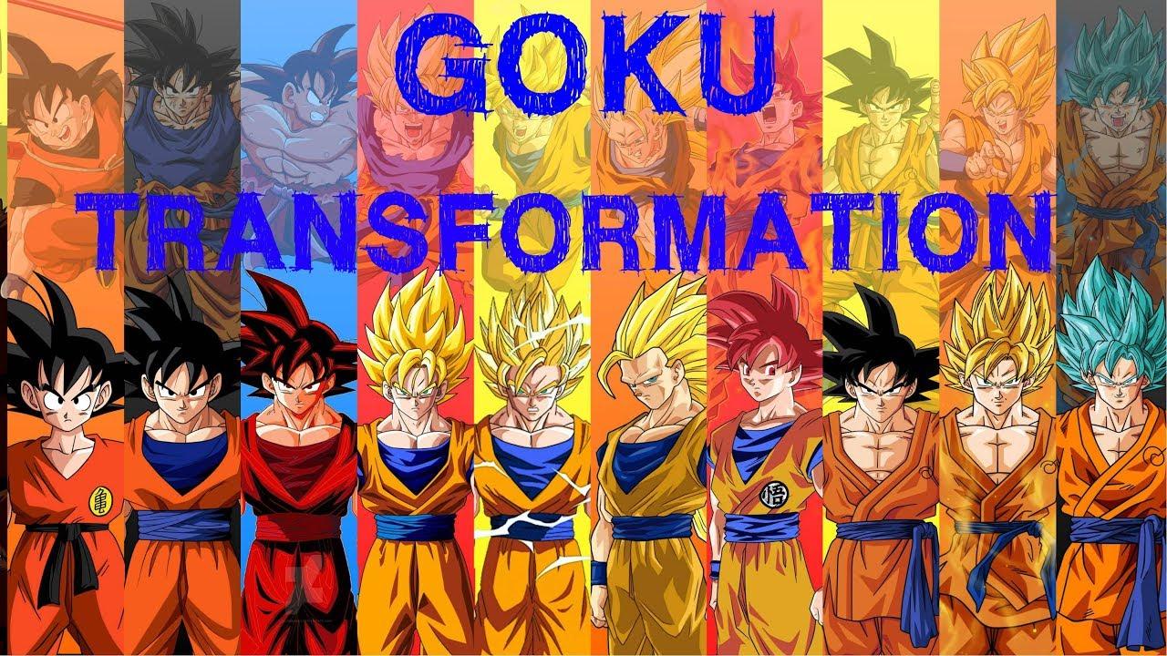 Toutes les transformations de goku de dbz dbs youtube - Tout les image de dragon ball z ...