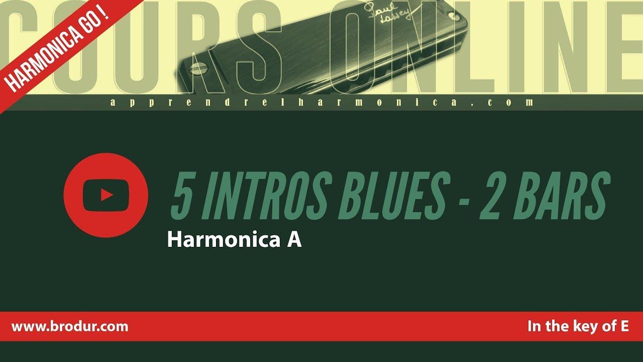 5 intros blues in the key of E - DEMO - 2 bars - Harmonica A