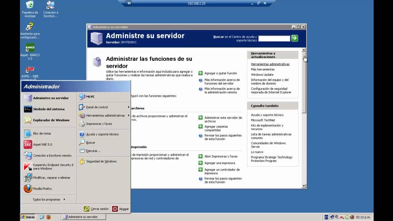 Windows server 2003 escritorio remoto remote desktop - Activar escritorio remoto windows xp ...