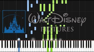 Walt Disney Pictures - Intro (Piano Tutorial) [Synthesia]
