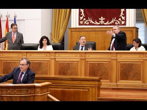 El PP castellano-manchego vuelve a reventar el Pleno de las Cortes y Tirado acaba expulsado