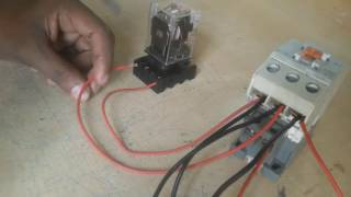 Three phase line protection by use a magnetic contract relay. how to make | electricity | electrical