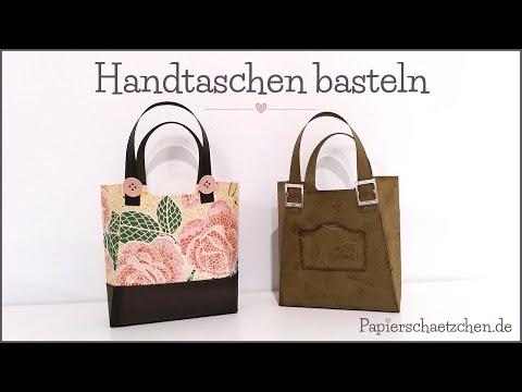 Handtasche Basteln Aus Papier - Mit Stil Und Klasse Von Stampin' Up! (Stanzformen So Stilvoll)