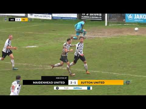 Maidenhead v Sutton Utd - 30th March 2018 - highlights of abandoned game