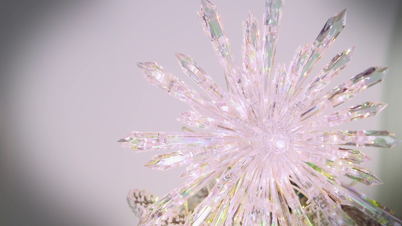 Crystal Tree Topper - YouTube
