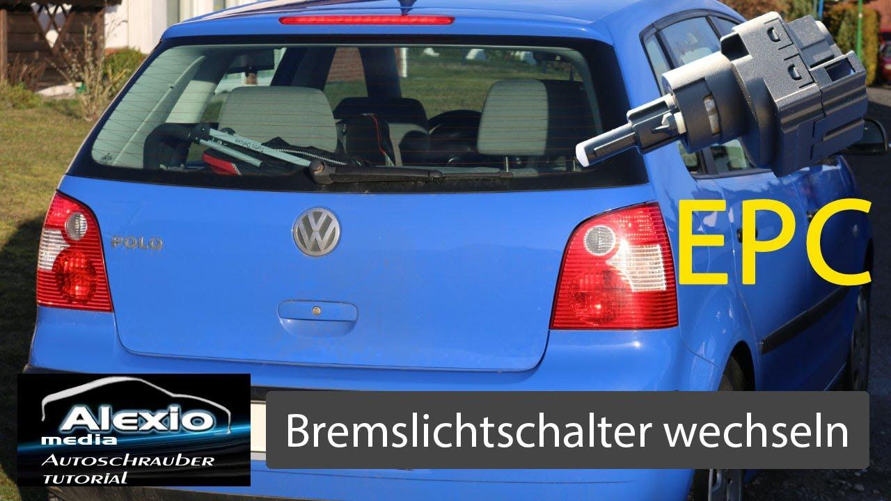 🔧Polo9N Bremslicht dauerleuchten reparieren,Bremslichtschalter ...
