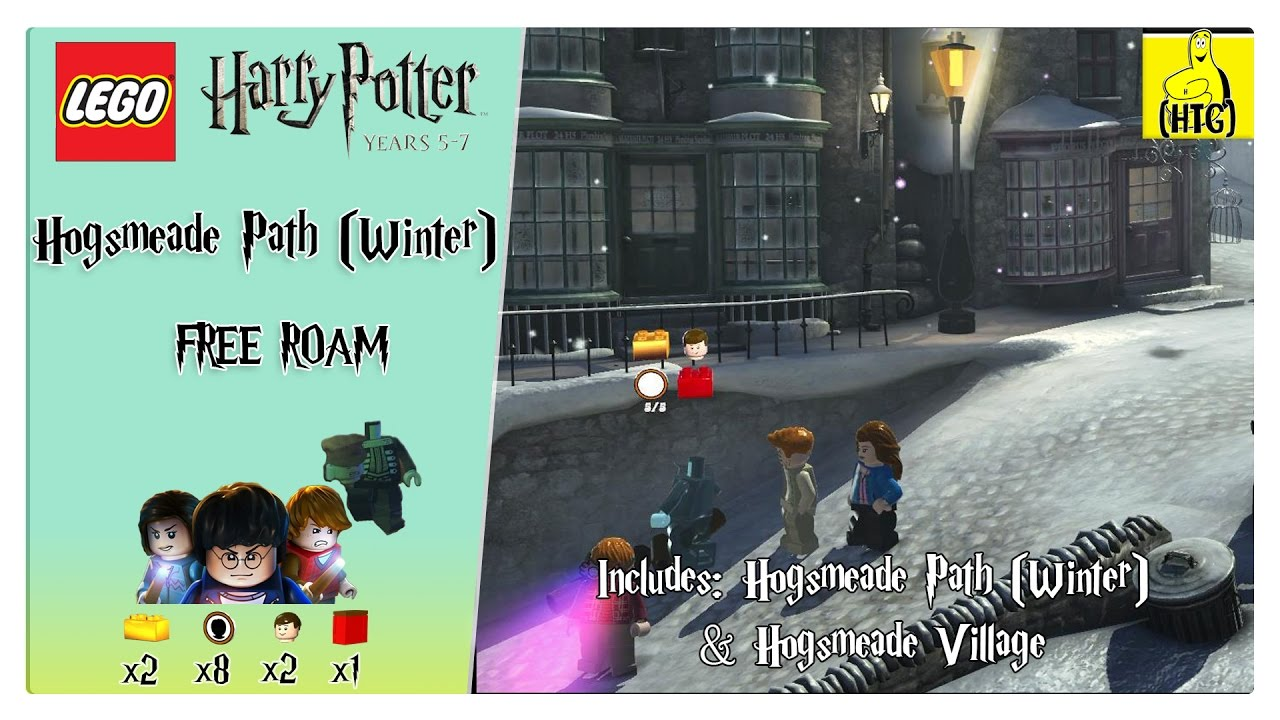 Lego Harry Potter 5 7 Hogsmeade Path Winter Free Roam All Collectibles Htg Youtube