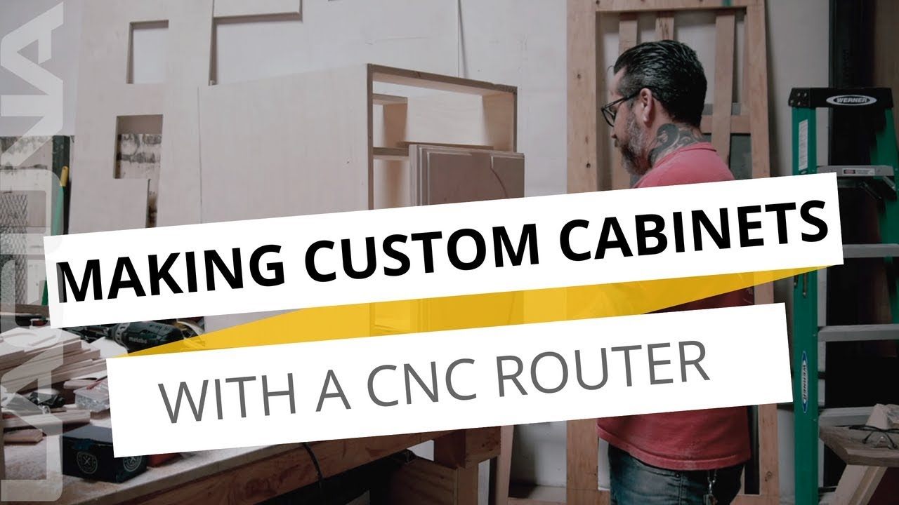 Creative Custom Kitchen Cabinets: DIY Project With Wesley November   CNC  Made Custom Cabinets