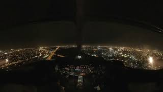 Learjet Night Ride-Along Garmin Virb 360