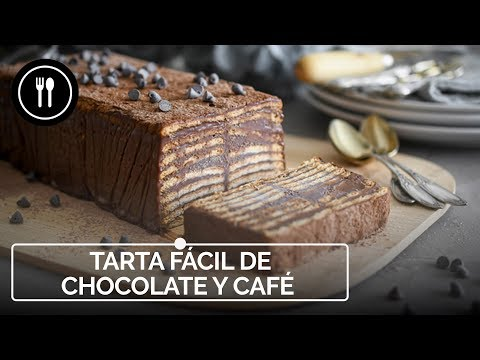 Tarta fácil de chocolate y café sin horno, la receta que querrás hacer sin parar (con vídeo incluido)