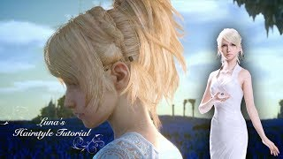 Lunafreya Hairstyle Tutorial (with real hair) - Final Fantasy XV