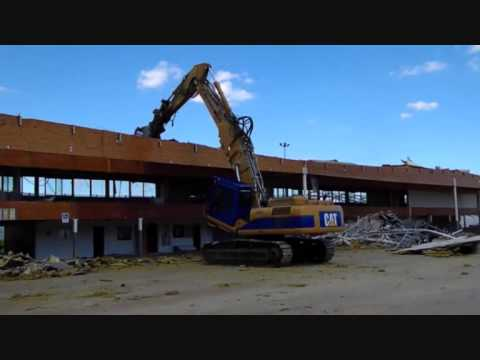 d molition de castorama dijon le 31072013 youtube