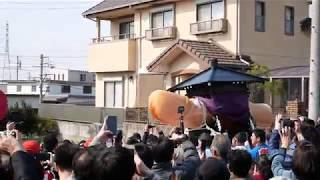 【4k】田縣神社 豊年祭 2019 群衆のなか線路を渡る直前