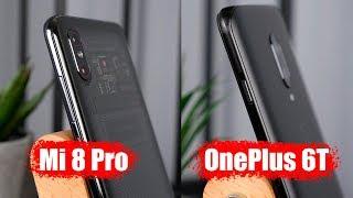 Сравнение смартфонов: OnePlus 6T против Mi 8 PRO