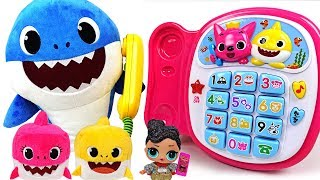 Let's talk on the phone! LOL Surprise eggs and Pinkfong Singing Phone - PinkyPopTOY